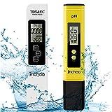 JINCHAO Calidad del Agua Medidor de Prueba, Medidor PH TDS Temperatura EC 4 en 1 Digital, para Agua Potable, hidroponía, jardinería, acuarios, Piscinas y spas