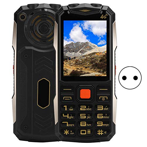 Yctze Teléfono móvil Teléfono móvil de 2,4 Pulgadas Tarjeta Dual Teléfono móvil de Doble Modo de Espera Multifuncional 32 MB + 32 MB Teléfono(European regulations)