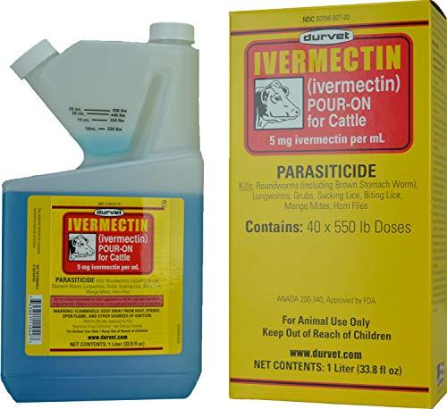 Durvet Ivermectin Pour-On for Cattle 1000 mL