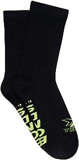 Bonds Men's X-Temp Crew Socks (2 Pack), Black, 11+