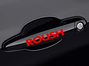 ReplaceMyParts ROUSH Racing Door Handle Decal Sticker Emblem Logo for Ford Mustang, 2 Pieces, Red