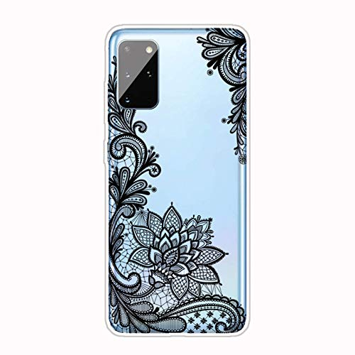 AChris Case Compatible with Samsung Galaxy S21 Crystal Transparent Case Cover Slim in Soft TPU Silicone Shock Absorption Anti-Scratch with Pattern for Samsung Galaxy S21, Rose