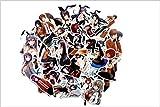 WEIGUANG Anime japonés Bunny Girl Hermana Mayor Personalidad Maleta Equipaje Computadora Taza de Agua Pegatinas Impermeables 50 Hojas
