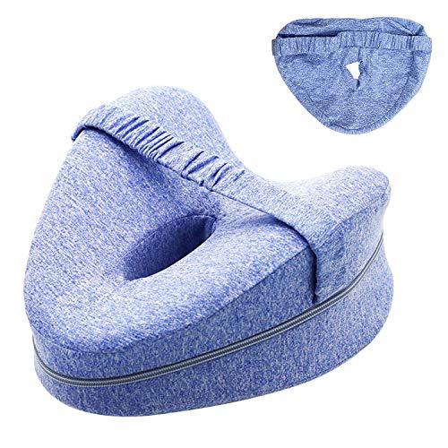 Kniekissen für Seitenschläfer Comfy Pillow fur Sleep Complete Ergonomisches Seitenschläferkissen Memory Foam Kissen für Seitenschläfer Stützt Beine Knie und Rücken Kommt mit 1 Zusätzlichen Kissenbezug