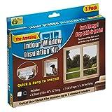 MySmartBuy Indoor Window Insulation Kit Draught Draft Shrink Fit Sealing Clear Transparent Film