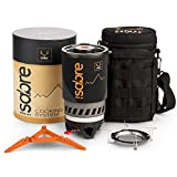 Portable Gas Backpacking Stove, Quick Boil 1000 w Gas Jet Burner with Piezo Ignition, 900ml - Universal Cooking Stoves, Accessories for Camping, Camping Gift, Personal Emergency Heating Kit
