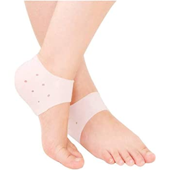 GAHI Anti Crack Silicon Gel Heel And Foot Protector Moisturizing Socks for Foot Care,Pain Relief And Heel Cracks for Men And Women - Beige Free Size - 1 Pair
