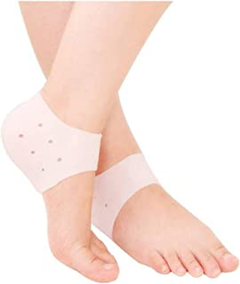 GAHI Anti Crack Silicon Gel Heel And Foot Protector Moisturizing Socks for Foot Care,Pain Relief And Heel Cracks for Men A...