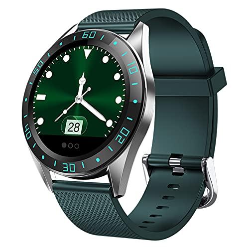 BNMY Smartwatch Reloj Inteligente Impermeable IP67 Pulsera De Actividad con Podómetro Pulsómetro Monitor De Sueño Reloj Deportivo con Teléfono Bluetooth Smart Watch iOS para Hombre Mujer,Verde