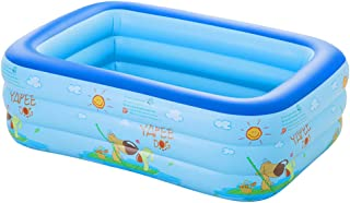 WH SHOP Piscina Familiar Hinchable Swim Center- Piscina Rectangular-Easy Set Piscina Hinchable de Verano con Piso Inflable Suave para Ninos y Adultos- Tamano Multiple (Azul-Verde)