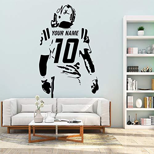 Personalisierte fußball mitglied wandaufkleber dekoration für kinderzimmer diy haus dekoration kunst aufkleber a5 43 * 67 cm