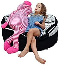 2 Sizes in 1 Large Bean bag Stuffed Animal Storage   XL Jumbo Ottoman for Soft Toys, Plush Toys   Giant Pouf Organizer for Linens, Quilts, Pillows   300 L. / 80 Gal.   42