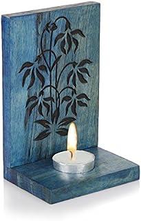 Hashcart Handmade Tea Light Candle Holder/Wooden Candle Light Holder Set/Designer Votive Candle Holder Stand/Wall & Table ...