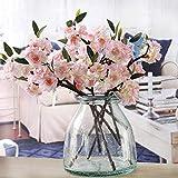 KICODE TOPMountain 40 cm Flores artificiais falsas Flores de cerejeira Flores de jardim Buquê de casamento decoração de festa