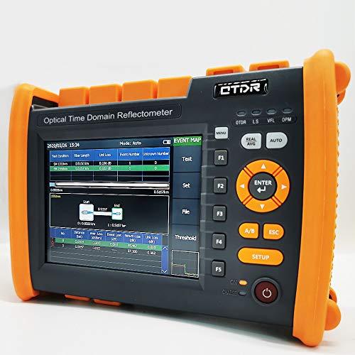 D YEDEMC Optical Time Domain Reflectometer 1310/1550nm 32/30dB SM Optic Fiber OTDR Tester Built-in VFL OPM OLS Functionn with FC/APC-FC/UPC-SX