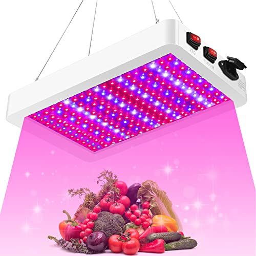1000W LED Grow Light, 261PCS LEDs Dual Switch Full Spectrum Plant Light, Grow Lights for Indoor Hydroponic Plants Veg Flower Greenhouse Growing Lamps