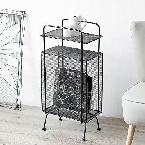 Weq Staande kast, tijdschriftenrek, woonkamerrek, multifunctioneel, opbergkast, bijzettafel, ijzer