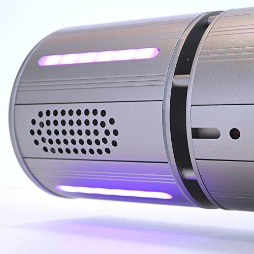 VASNER Appino BEATZZ Grau Grey Infrarotstrahler dimmbar 2000 Watt mit Bluetooth, LED Backlight Licht, Musik-Lautsprecher Außenbereich - 3