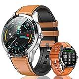 Smartwatch Orologio Intelligente Fitness Tracker Uomo Donna Cardiofrequenzimetro Monitor da Polso Contapassi Sportivo Activity Tracker IP68 Impermeabile Smart Watch per iPhone/Xiaomi/Samsung (nero)