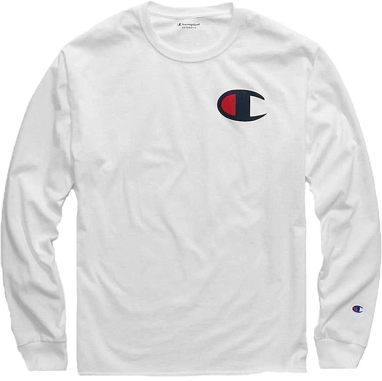 悲しい赤面側溝[チャンピオン] メンズ シャツ Champion Men's Big C Jersey Long Sleeve [並行輸入品]