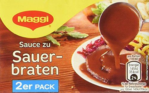 Maggi Delikatess Doppelpack Soße zu Sauerbraten, 18er Pack (18 x 500 ml)