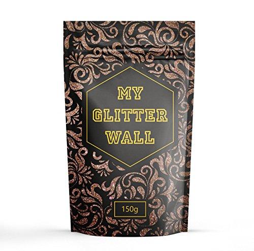 Braun 150g my Glitter Wand Glitter für Emulsion Farbe glitzernden Wand Dekorationen perfekt für Innen und Außen