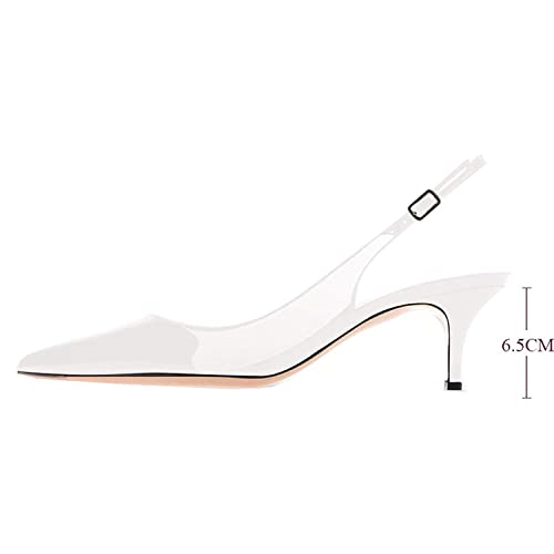 a6b3dcf5ec7 Lovirs Womens Slingback Ankle Strap Sandals Stiletto Mid-Heel Pointy Toe Pumps  Shoes for Party