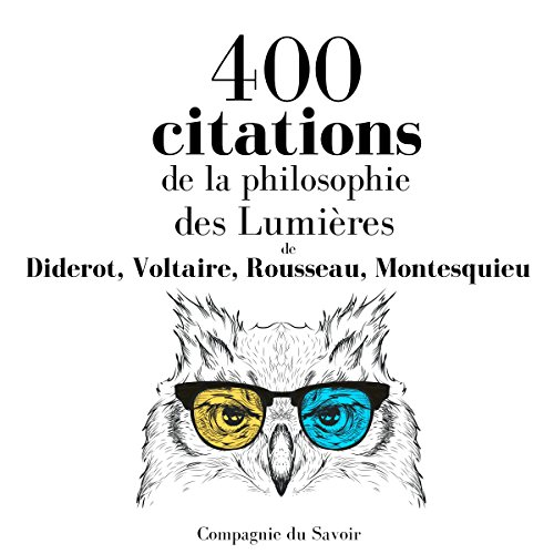 Couverture de 400 citations de la philosophie des Lumières