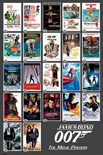 Pyramid America James Bond 007 The Movie Posters Spy Film Series Franchise 22 Movies Cool Wall Decor Art Print Poster 24x36