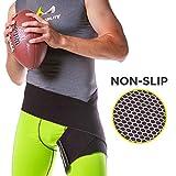 BraceAbility Hip Brace & Groin Strain Wrap | Non-Slip Hamstring & Thigh Compression Support Spica...