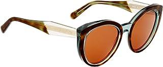 Salvatore Ferragamo Two Tone Plastic Frame Brown Lens Unisex Sunglasses SF891S220357055319
