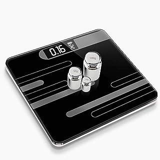 HJTLK Básculas de baño Digitales, báscula Básculas de baño Inteligentes, báscula de Grasa/músculo/Grasa visceral Máx. 180 kg, Blanco