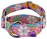 Country Brook Petz - 1 1/2 Inch May Flowers Martingale Dog Collar - Floral Collection with 5 Charming Designs (1 1/2 Inch, Extra Large)