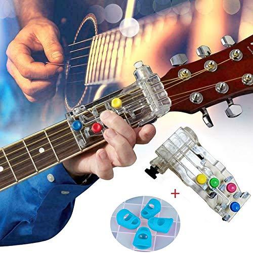 Alecony Kinder Classical Chordbuddy Chord Guitar Method Learning System Teaching Aid Anti-pain Finger Cot Guitar Assistant, Gitarrenlernsystem, Gitarrenaufsatz, Gitarrenakkord Tuner Fingerschutz