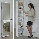Cabidor Deluxe | Mirrored | Behind The Door | Adjustable | Medicine, Bathroom, & Kitchen Storage Cabinet (Renewed)