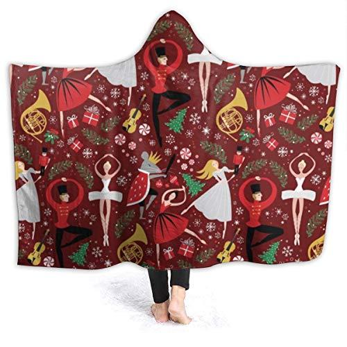 Clara's Schiaccianoci Balletto Rosso Coperta da Lancio 50x40 Pollici Super Soft Fuzzy Accogliente Soffice Coperta soffice Peluche per Lettino Poltrona Soggiorno Autunno Inverno Primavera