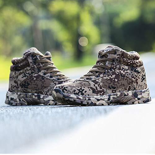 HaoLin Botas para Hombres Botas Militares De Invierno Botas Especiales De Guerra De Combate Alta Ayuda para Zapatos De Entrenamiento Botas Frías,Green-41