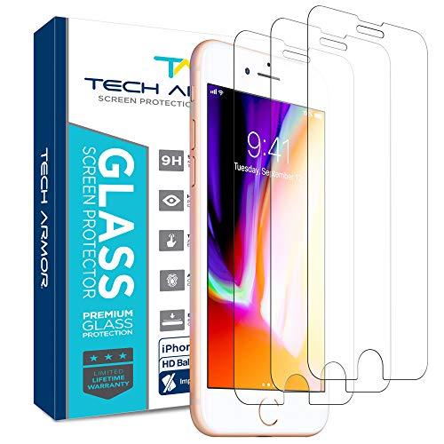 Tech Armor - Premium Displayschutz aus Panzerglas für Apple iPhone 6/6s / iPhone 7 / iPhone 8 (4.7 inch ONLY) - 3 Stück