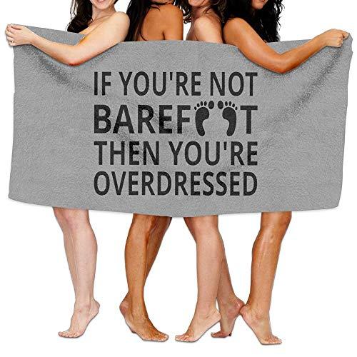 Lewiuzr Toalla de baño Si no estás Descalzo Toalla de Microfibra 130 x 80 cm Lote de Toallas para Hombres y Mujeres