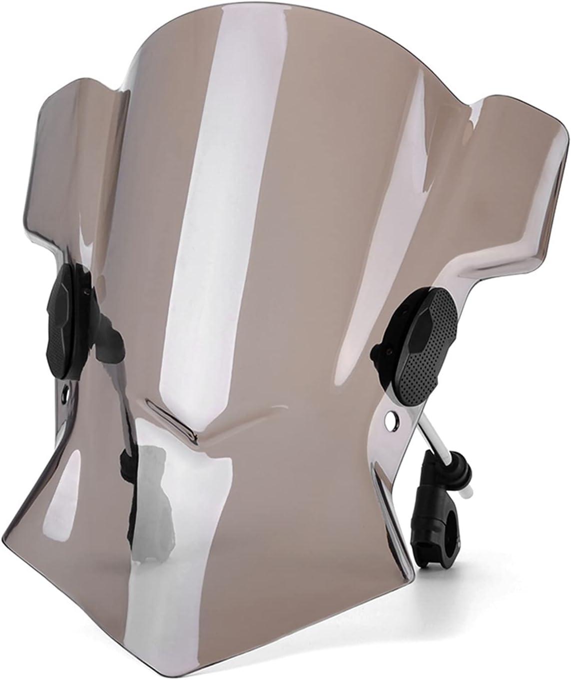 Burning Parabrisas para Moto, Motorcycle Windscreen Deflectores de Viento para HON-DA CB600F Avispón CB650F CB125F CB1300 CB 1000R 1000 para HUS-QVARNA NUDA 900R Fumo (Color : Smoke)