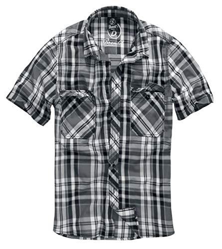 Brandit Herren Roadstar Shirt Hemd, Schwarz/Anthrazit, XXL