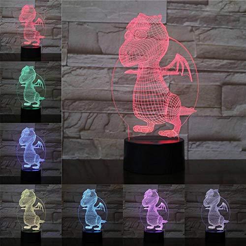 Roman fantaisie illusion nuit ampoule multicolore dragon famille noël enfant enfant jouet cadeau enfant famille