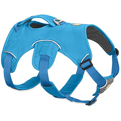 RUFFWEAR, Web Master, Multi-Use Support Dog Harness, Hiking and Trail Running, Service and Working, Everyday Wear, Blue Dusk, XX-Small
