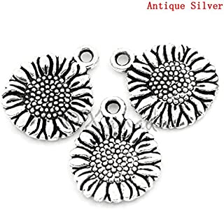 8 Honeycomb Connector Charms Antique Silver Tone SC7401