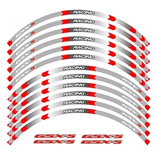 Accesorios de la motocicleta Personalidad colorida del cubo de rueda exterior del cubo de la rueda del neumático emblema pegatina reflectante (Color : 230287)