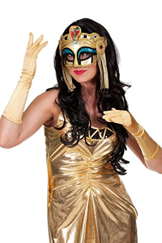 Karneval-Klamotten Larve Cleopatra Gold Larve Ägyptische Larve Pharao Larve Ägyten