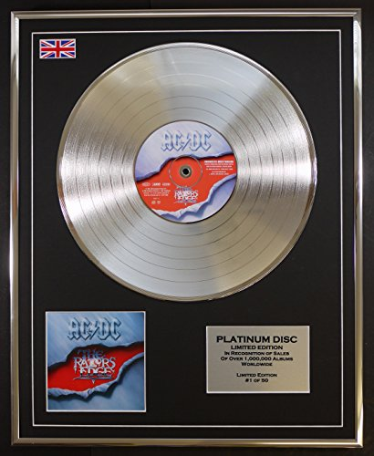 AC DC/Limitierte Edition Platin Schallplatte/THE RAZORS EDGE