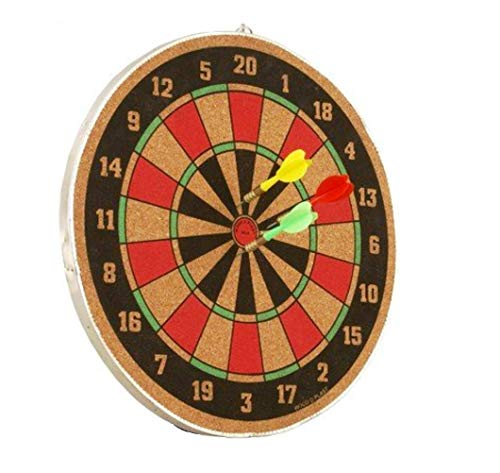 arnav 16 Inches Both Side Playing Dart Board Set Indoor Game with 3 Pins (Multicolour)