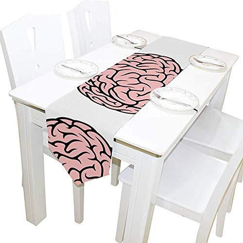 sunnee-shop Rosa menselijk hersen-tafelloper woondecoratie, festival-rechthoekige tafelkleed-loper-koffiekat