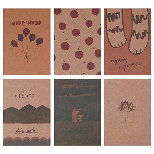 Koehope Notebook lege pagina Schilderen papier boek dagboek notitieblok accessoires